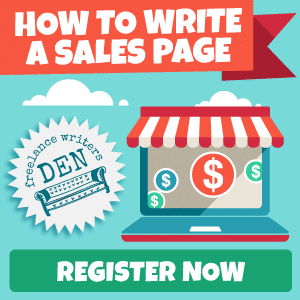 How to Write a Sales Page Bootcamp Class sidebar ad