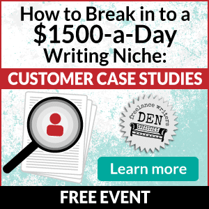 Free Event — learn how to break into writing case studies!