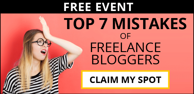 Top 7 Mistakes of Freelance Bloggers. CLAIM MY SPOT