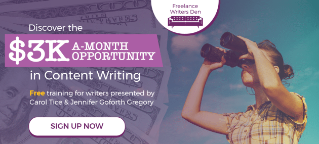 Free Live Webinar: Discover the $3K-a-Month Opportunity in Content Writing SIGN UP NOW