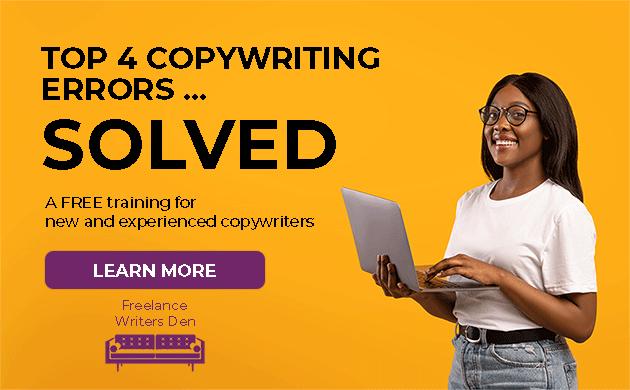 Top 4 Copywriting Errors ... Solved